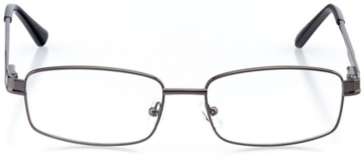 malaga: men's rectangle eyeglasses in gray - front view