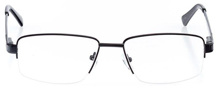 san pedro: men's square eyeglasses in black - front view