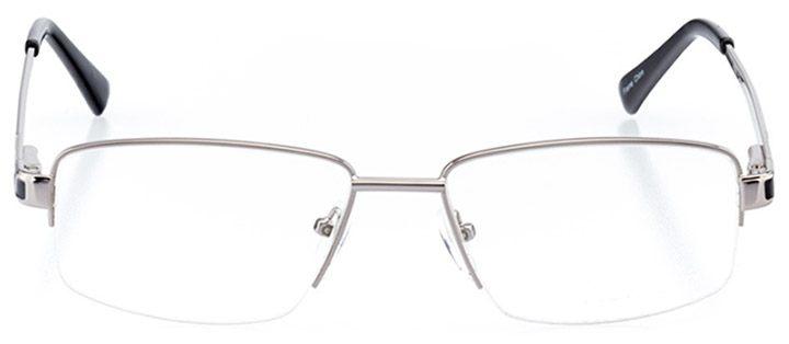 san pedro: men's square eyeglasses in gray - front view