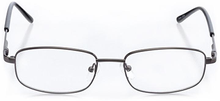 geneva: men's rectangle eyeglasses in gray - front view