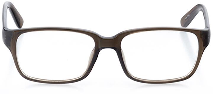 dublin: men's square eyeglasses in gray - front view