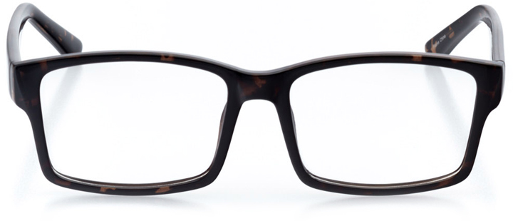 atlanta: men's square eyeglasses in tortoise - front view