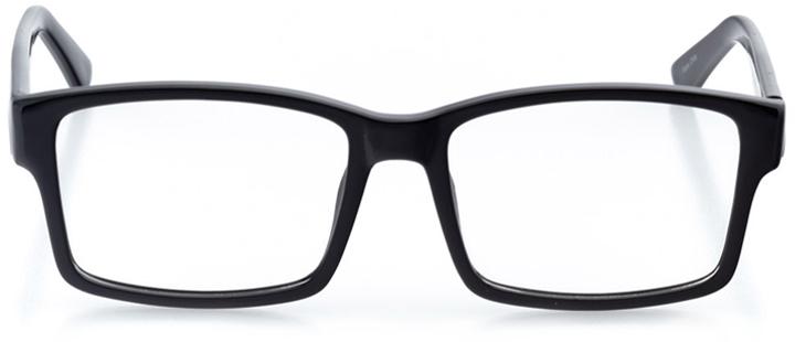 atlanta: men's square eyeglasses in black - front view