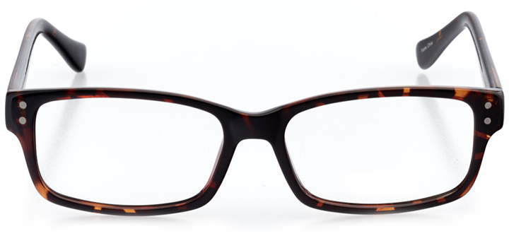 the hague: men's rectangle eyeglasses in tortoise - front view
