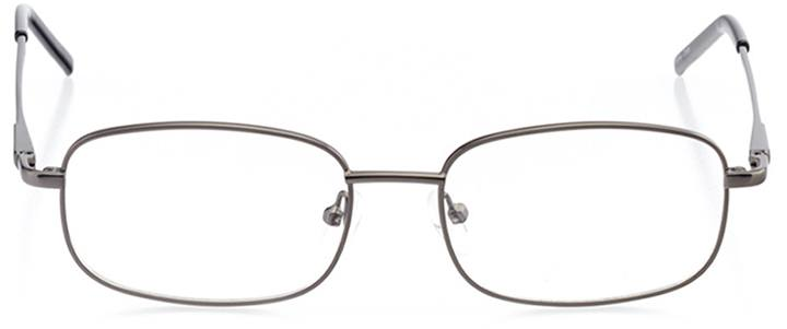 auckland: men's rectangle eyeglasses in gray - front view