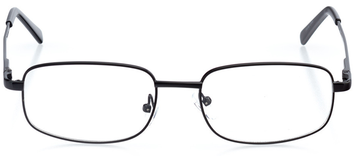 manchester: men's rectangle eyeglasses in black - front view