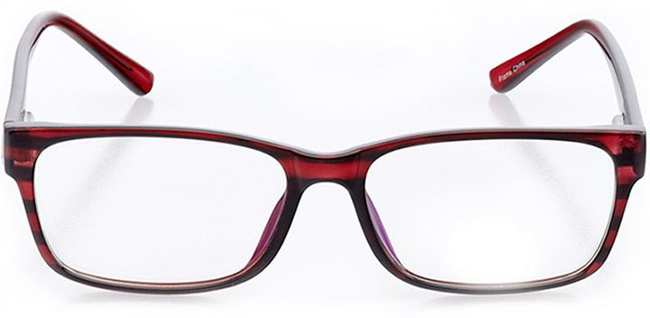 amsterdam: men's square eyeglasses in purple - front view