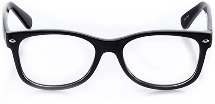 aarhus: square eyeglasses in black - front view