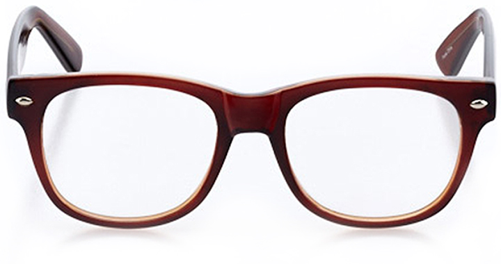 cordoba: square eyeglasses in brown - front view