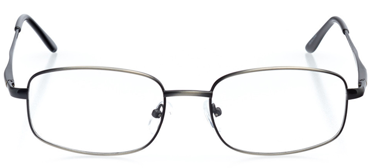 brussels: men's rectangle eyeglasses in gray - front view