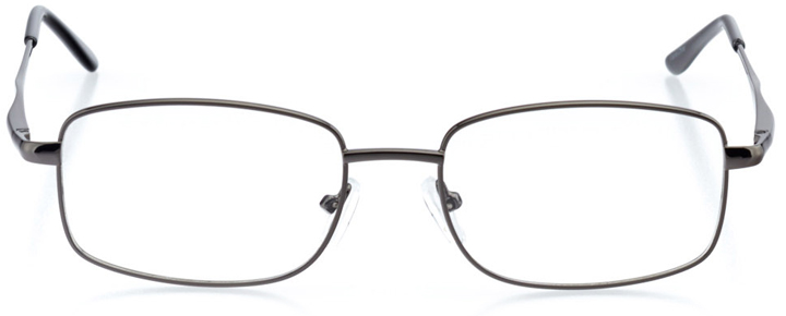 oslo: men's rectangle eyeglasses in gray - front view