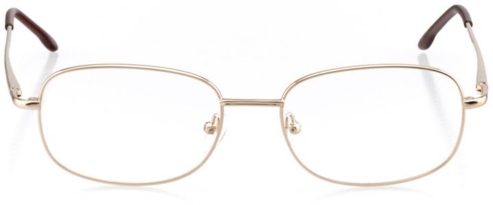 lisbon: men's square eyeglasses in brown - front view