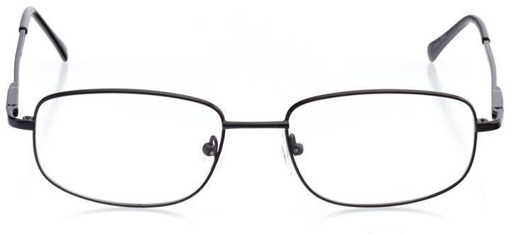 osaka: men's rectangle eyeglasses in black - front view