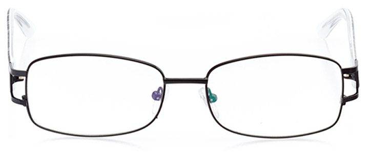 marlow: women's rectangle eyeglasses in black - front view