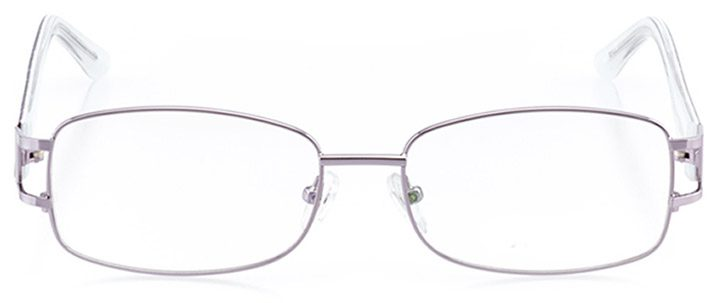 marlow: women's rectangle eyeglasses in purple - front view