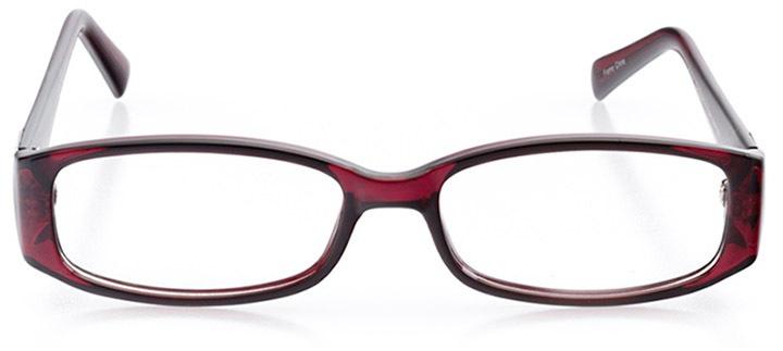 lienz: women's rectangle eyeglasses in purple - front view