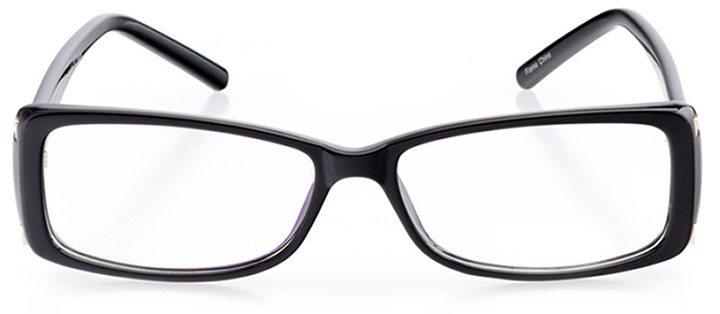 st. austell: women's rectangle eyeglasses in black - front view