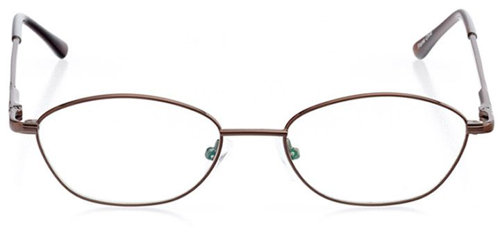 dartmouth: women's oval eyeglasses in brown - front view