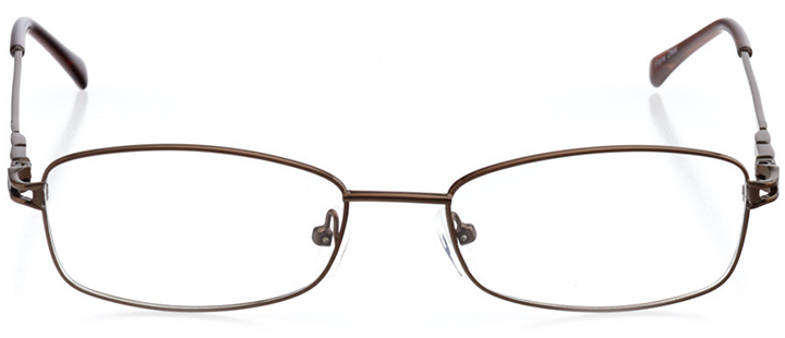 valencia: women's rectangle eyeglasses in brown - front view