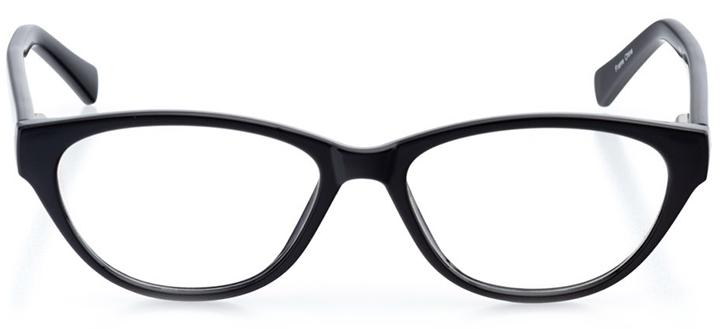 montreux: women's cat eye eyeglasses in black - front view