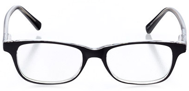 st. ives: women's rectangle eyeglasses in crystal - front view