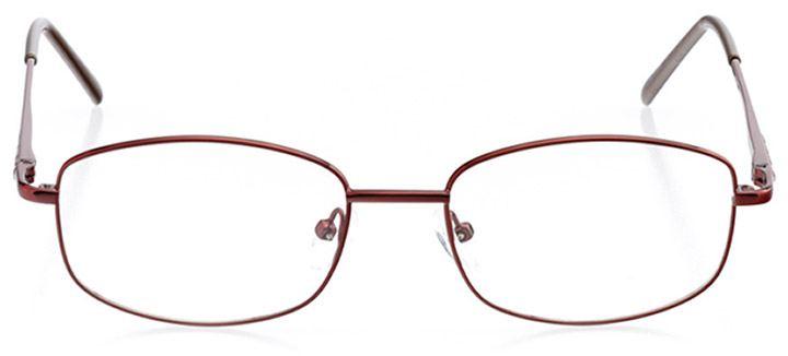 laurel: women's rectangle eyeglasses in brown - front view