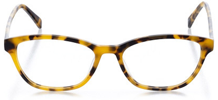 peabody: women's cat eye eyeglasses in gold - front view