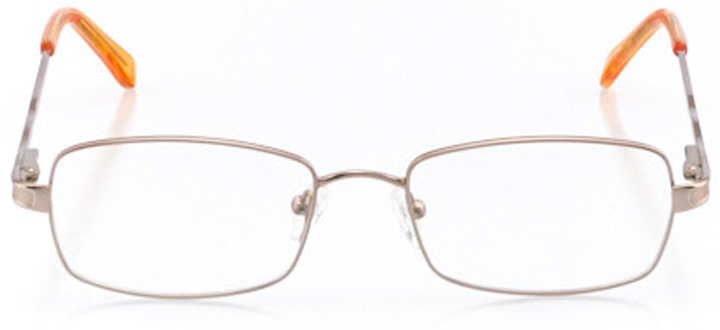 sonoma: women's rectangle eyeglasses in brown - front view