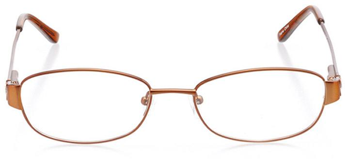 taylor: women's oval eyeglasses in brown - front view