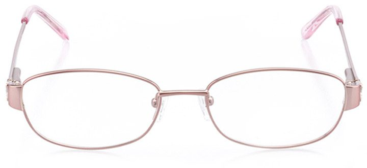 taylor: women's oval eyeglasses in pink - front view