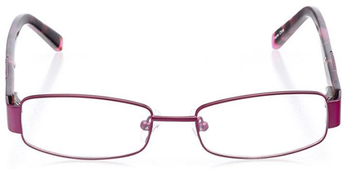 bowie: women's rectangle eyeglasses in purple - front view