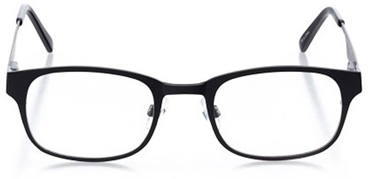 montpelier: men's square eyeglasses in black - front view