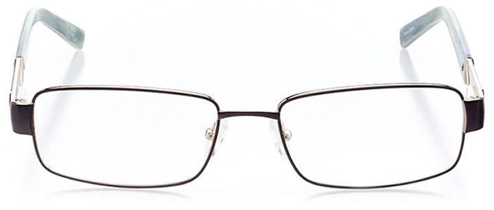 palmetto bay: men's rectangle eyeglasses in black - front view