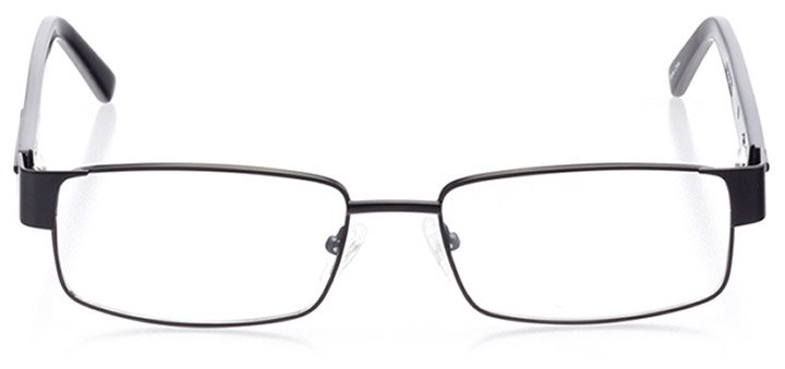 hilton head: men's rectangle eyeglasses in black - front view