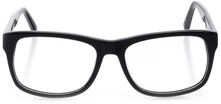 oakdale: men's square eyeglasses in black - front view