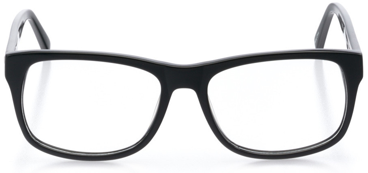 oakdale: men's square eyeglasses in green - front view