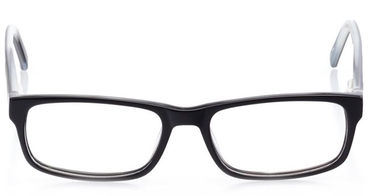 miami: men's rectangle eyeglasses in gray - front view