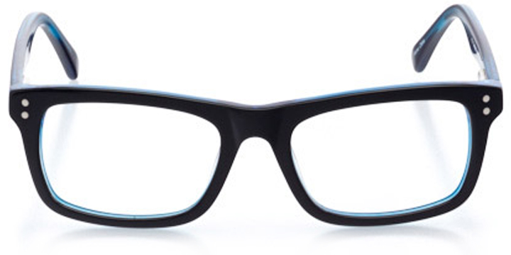 springfield: square eyeglasses in black - front view