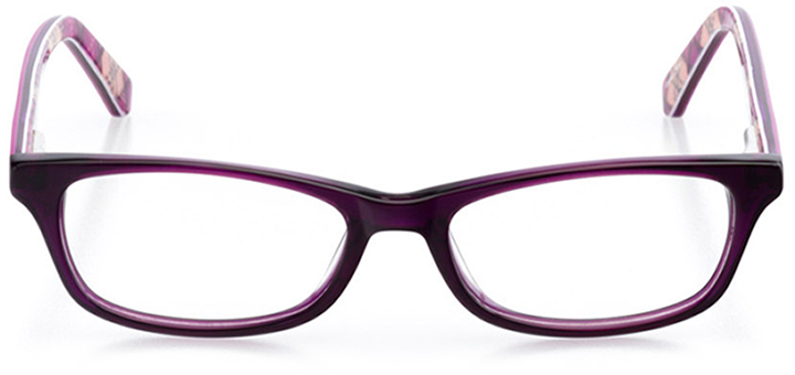 madison: girls' rectangle eyeglasses in purple - front view