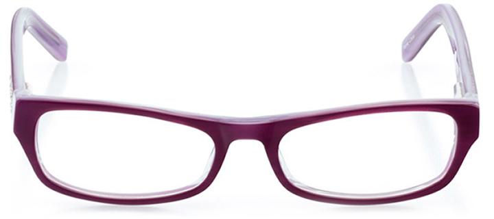 cambridge: girls' rectangle eyeglasses in purple - front view