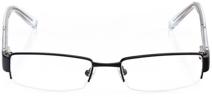 salem: boys' rectangle eyeglasses in black - front view