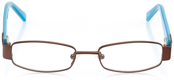tampa: rectangle eyeglasses in blue - front view