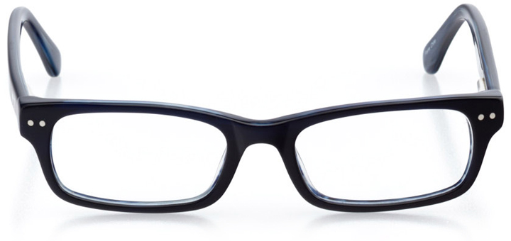 riverside: boys' rectangle eyeglasses in blue - front view