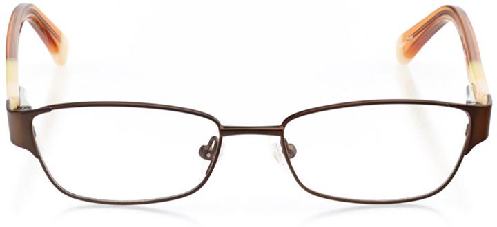 ventura: girls' rectangle eyeglasses in brown - front view