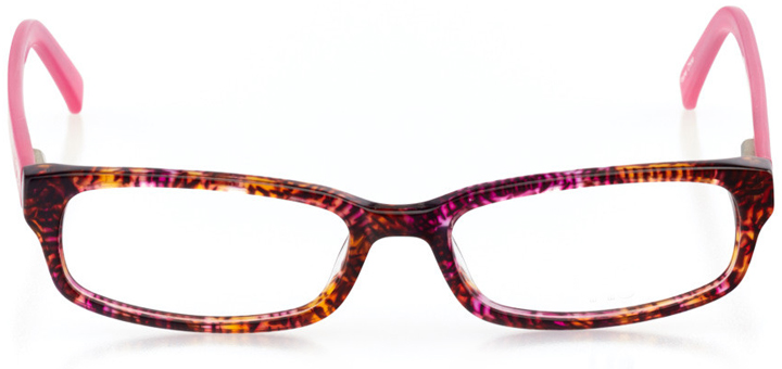 flagstaff: girls' rectangle eyeglasses in pink - front view