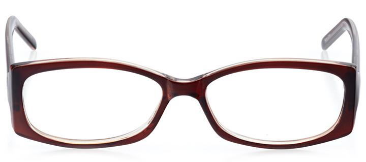 bergen: women's oval eyeglasses in brown - front view