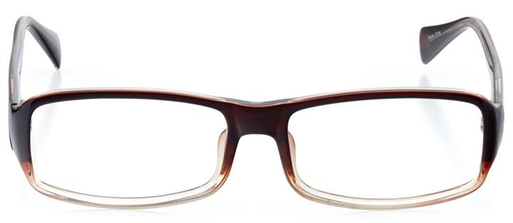zürich: men's rectangle eyeglasses in black - front view