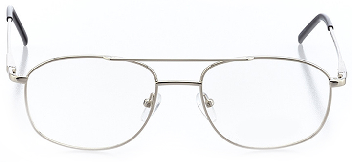 twin falls: men's rectangle eyeglasses in silver - front view