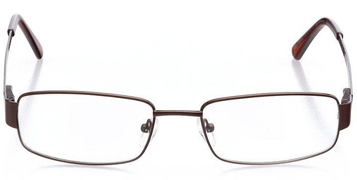 whistler: men's rectangle eyeglasses in brown - front view