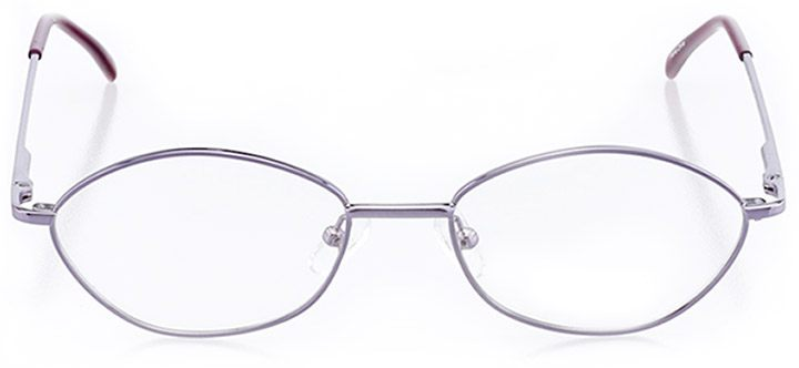 bayfield: women's oval eyeglasses in purple - front view